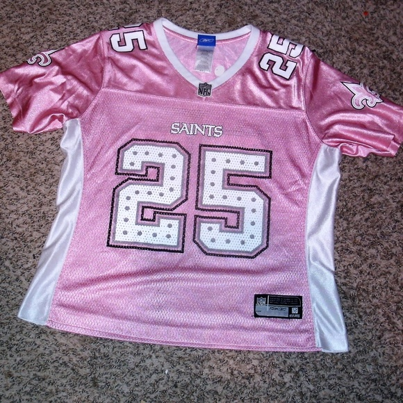 purchase cheap fa684 2f91c pink new orleans saints jersey